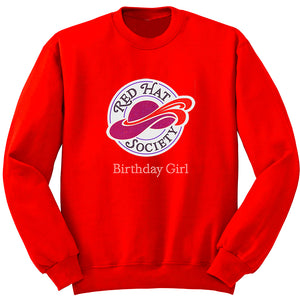 Red Hat Society Birthday Girl Sweatshirt