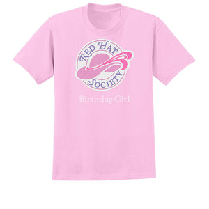 Red Hat Society Birthday Girl Basic T-Shirt