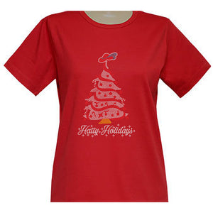 Hatty Holidays Short Sleeve Classic Scoop Neck