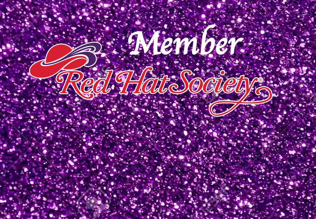 Red Hat Society Glitter Custom Name Badge