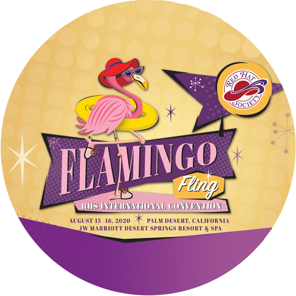 Flamingo Fling 2020 Button Pin