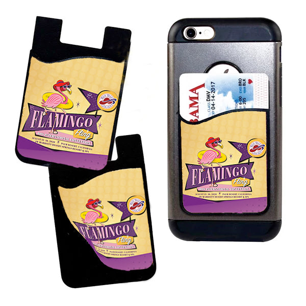 Flamingo Fling 2020 Card Caddy Phone Wallet