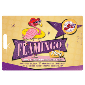 Flamingo Fling Luggage Tag