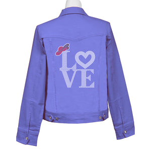 Love of The Hat Denim Crystal Jacket