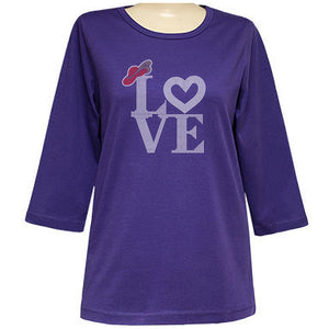 Love of The Hat 3/4 Sleeve Classic Scoop Shirt