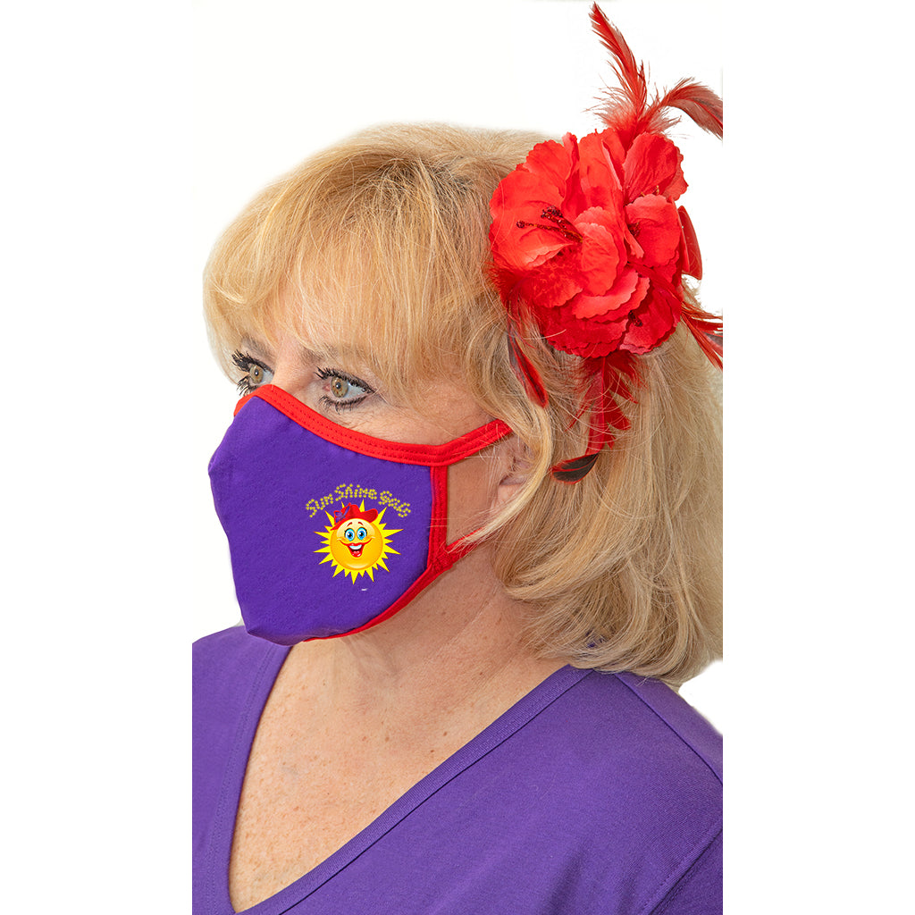 Red Hat Society Hat Mask - 2pk
