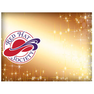 Red Hat Society Custom Name Badge