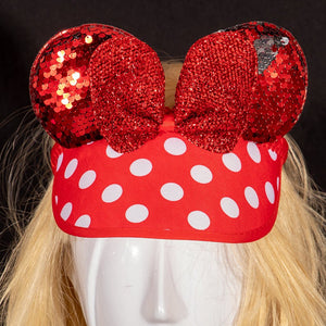 Poka Dot Ears Visor