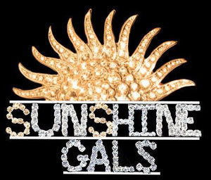 Sunshine Gals Rhinestone Pin