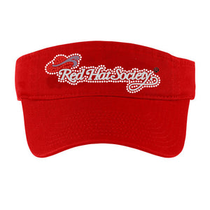Red Hat Society Rhinestone Sun Visor