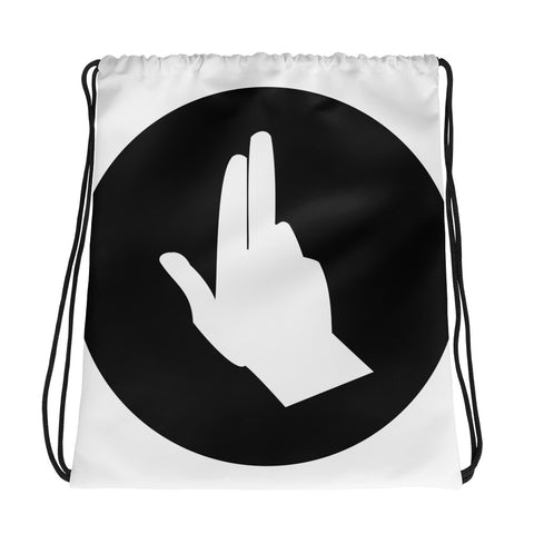 Jeep Finger Wave Drawstring Bag