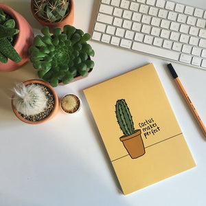 Cactus Makes Perfect A5 Note Pad Set