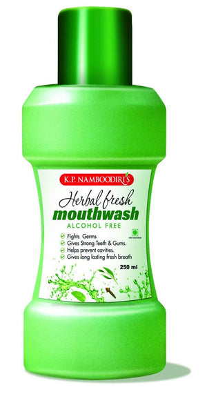 KP Namboodiri Herbal Mouthwash 250ml (Ayurvedic) - Ayush Care