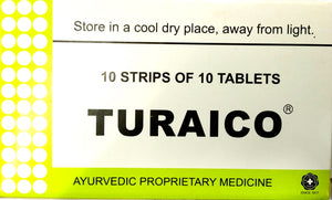 Turaico Tablets 100Tablets (Ayurvedic) - Ayush Care
