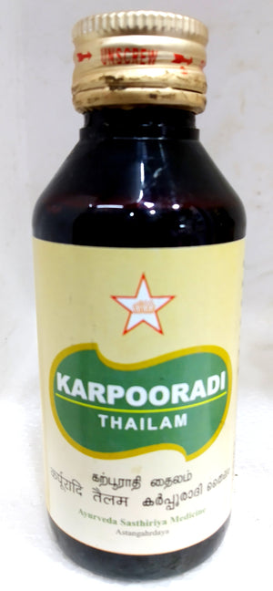 SKM Karpooradi Thailam 100ml (Siddha) - Ayush Care