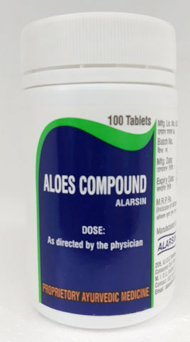 Alarsin Aloes Compound Tablets 100Tablets (Ayurvedic) - Ayush Care