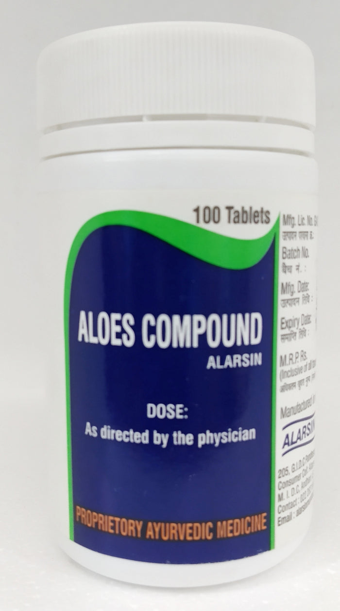 Alarsin Aloes Compound Tablets 100Tablets (Ayurvedic)