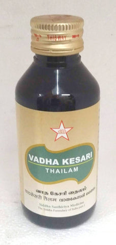 SKM Vathakesari Thailam 100ml (Siddha) - Ayush Care