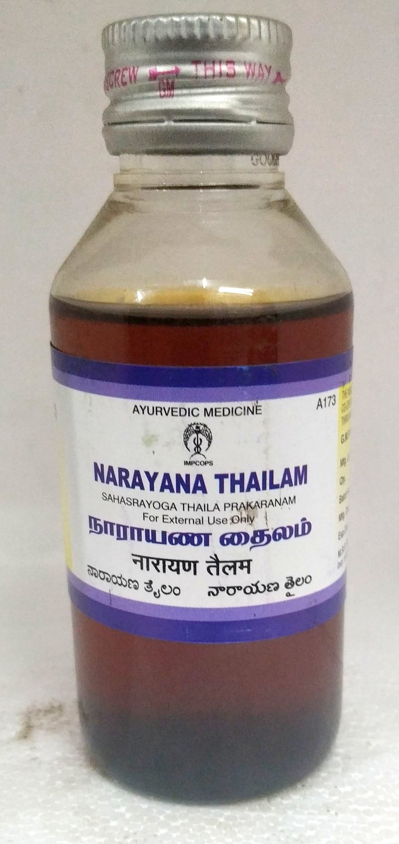 Impcops Narayana Thailam 100ml (Ayurvedic) - Ayush Care