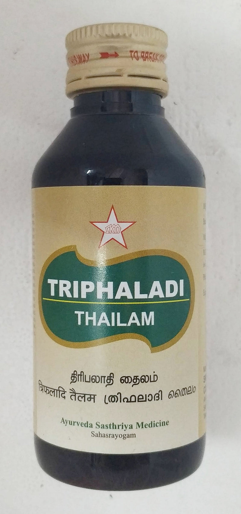 SKM Triphaladi Thailam 100ml (Ayurvedic) - Ayush Care