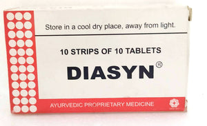 Diasyn Tablets 100Tablets (Ayurvedic) - Ayush Care