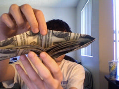 Wallet made out of Cash