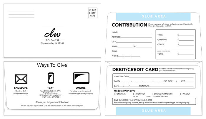 Donation Envelope Sample