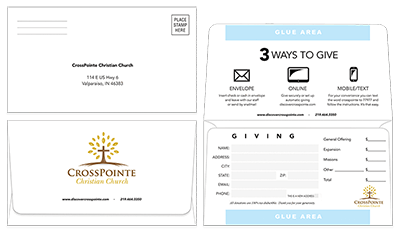 Custom Remittance Envelopes for Church and Business