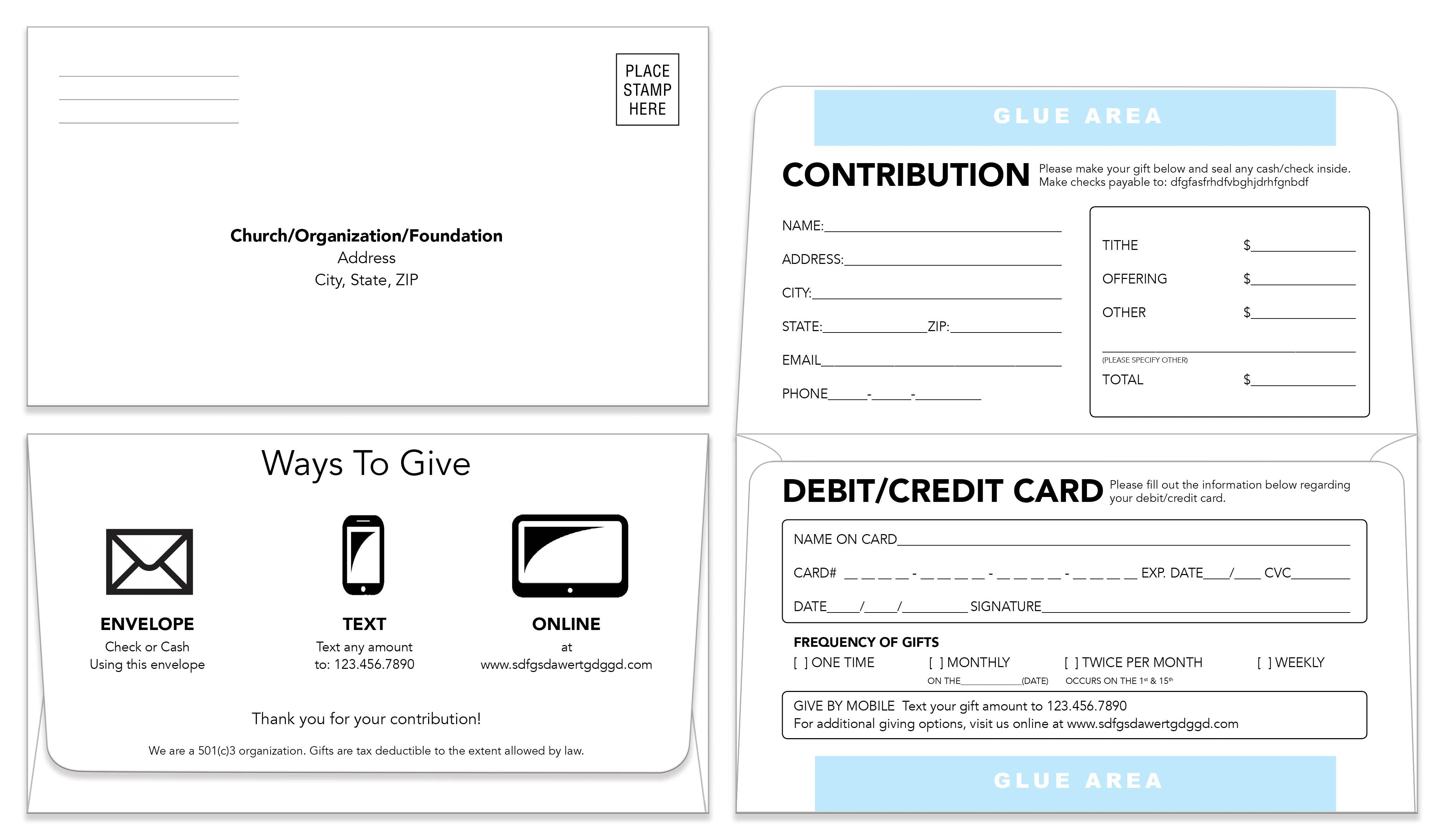 Remittance Envelope Template Donation Envelope - Remit envelope template
