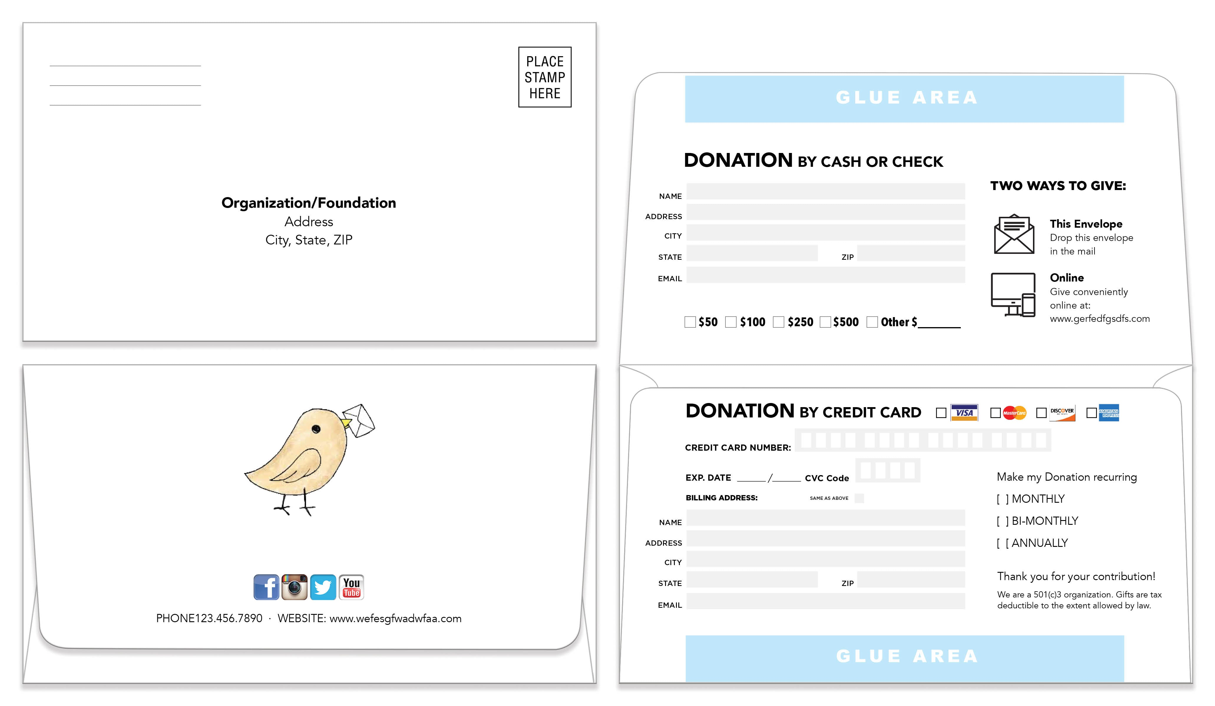 Remittance Envelopes Template 205