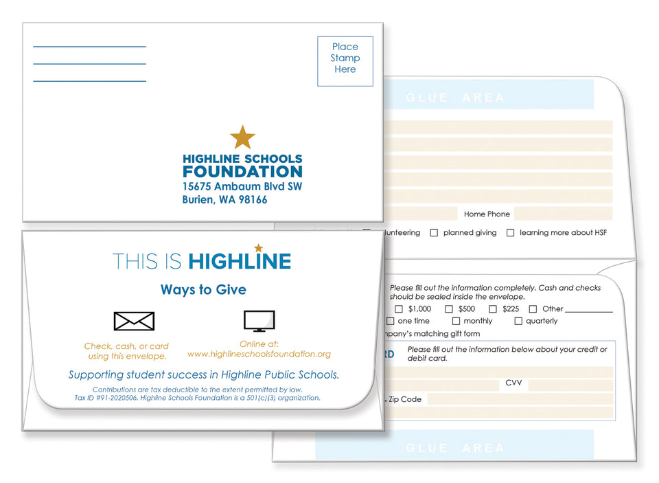 Donation Envelopes Design