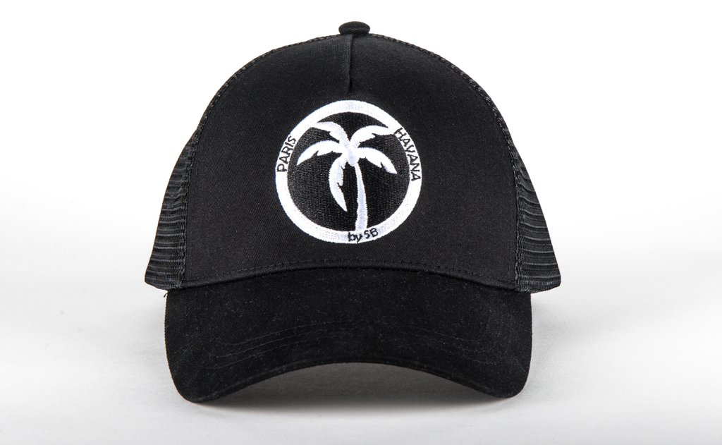 casquette trucker noir paris havana by sb