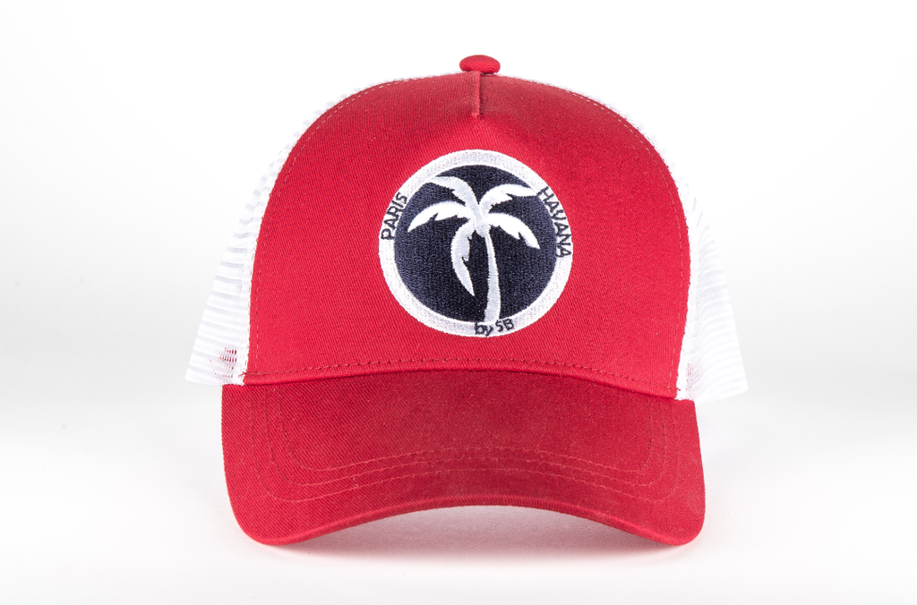 casquette rouge trucker paris havana by sb