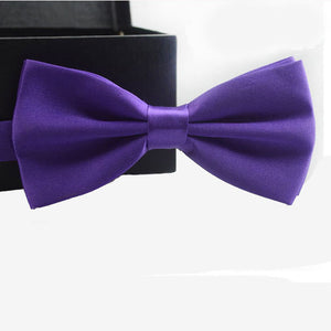 Trustworth 16 Colors Bow Tie For Men Classic Gravata Solid Novelty Men's Adjustable Great Buy!
