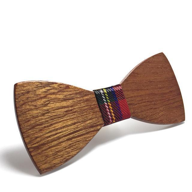 traditional wooden bow tie