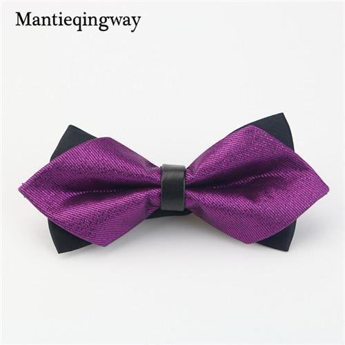 Mantieqingway Aristocracy Style Cravat Bowknot, Sharp Double Bowknots Solid Colors Great for Gifts