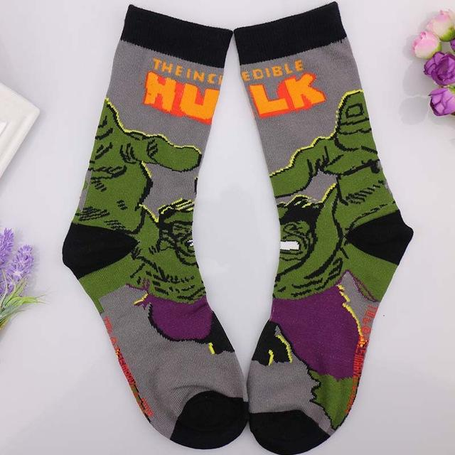 European Jacquard Men's Novelty Cartoon Cotton Crazy Socks