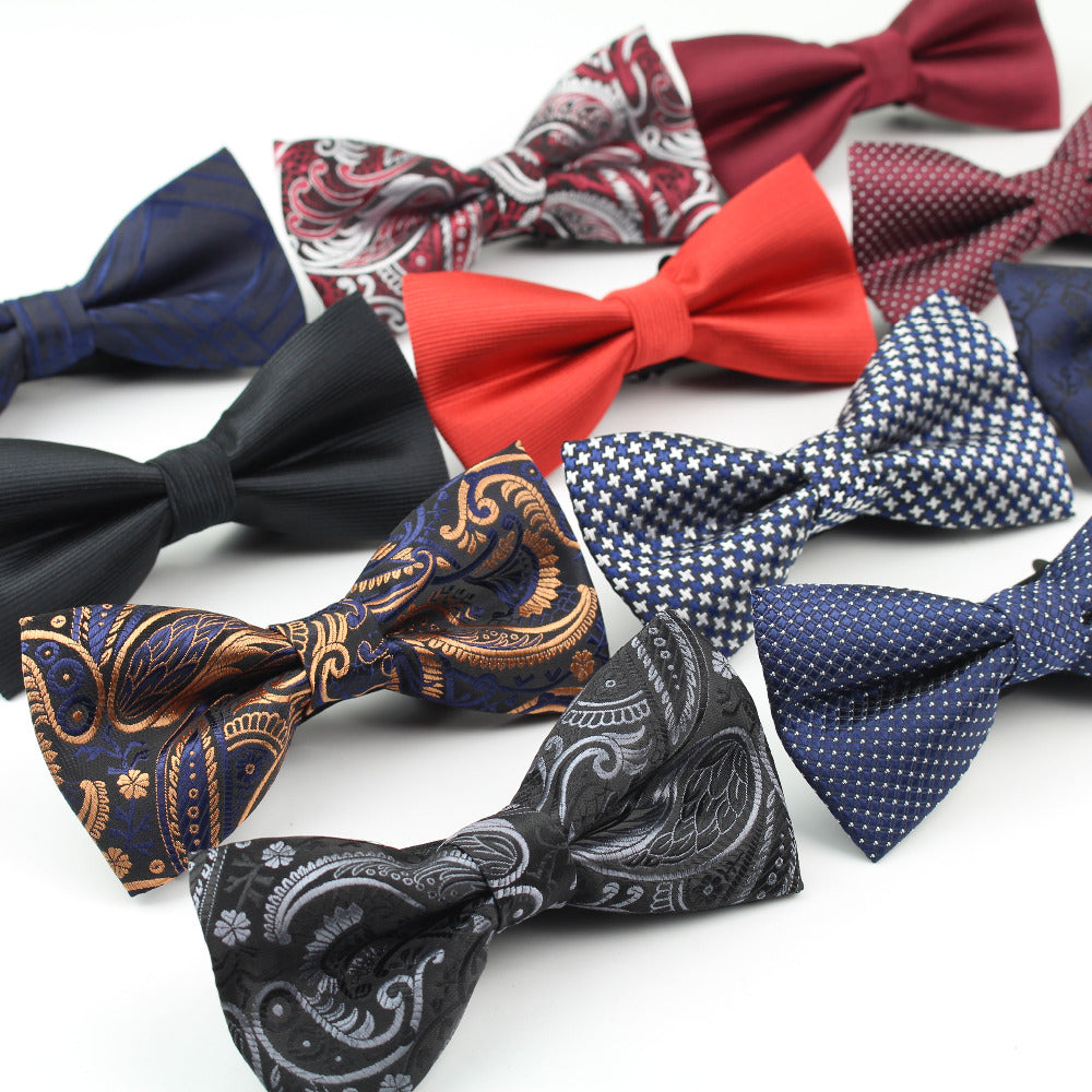 Men's Polyester Bow Ties Classic Dot Tie Men Leisure Butterfly Bowtie Cravats Accessories