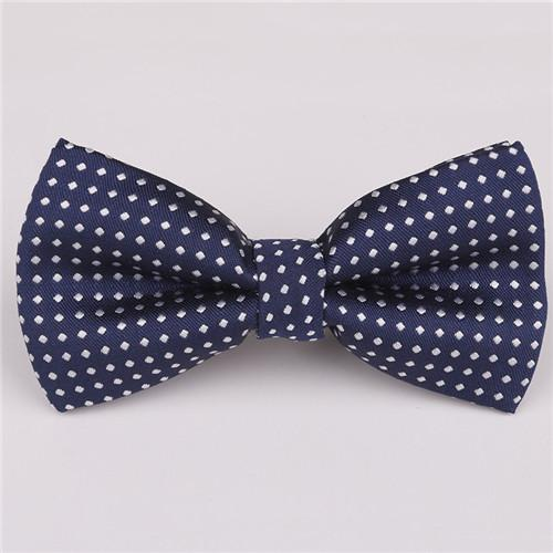 Mantieqingway Brand Dot & Solid Bowtie Polyester Men's Bow Ties Assortment of Colors  Bow Ties Cravats for Children Gift