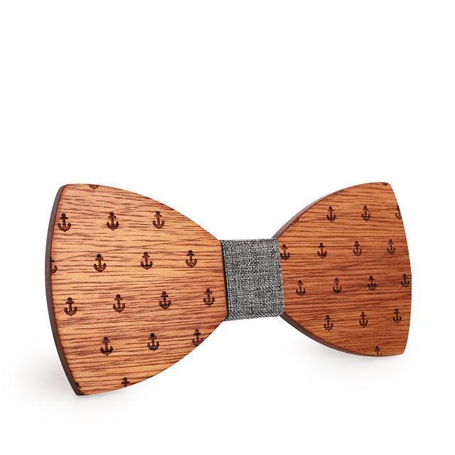 sailor wooden bow tie
