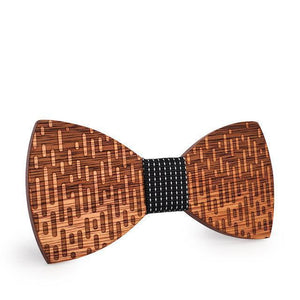 trendy wooden bow tie