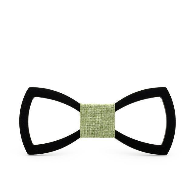 frame wooden bow tie