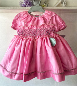 Raspberry heart smock age 1 in stock