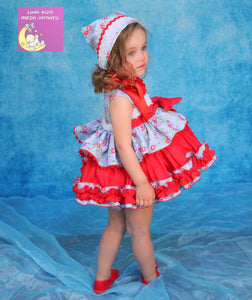 HALLIE DRESS AND KNICKERS (bonnet sold separately) 3789