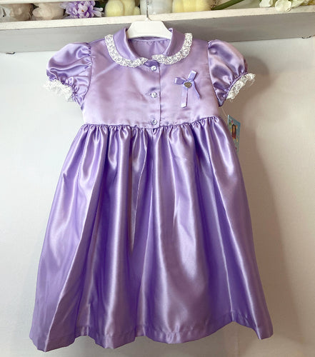 Lilac satin nightie (handmade to order 4/5week)