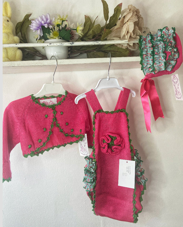 SS21 ela romper (bonnet and cardigan  sold separately)
