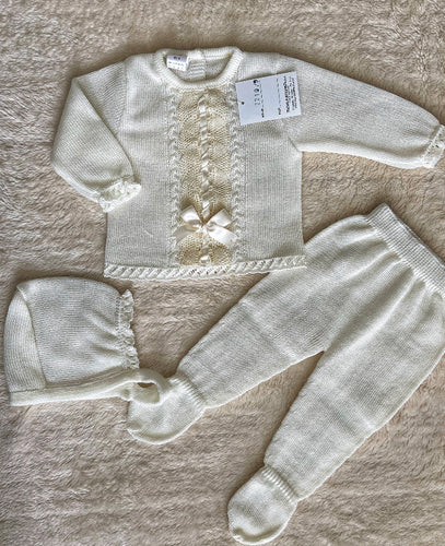 Cream Knitted Set