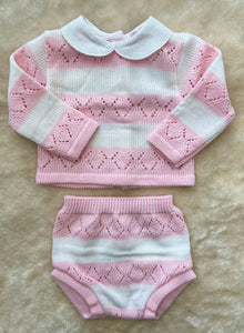 LOU Knitted set Pink 666