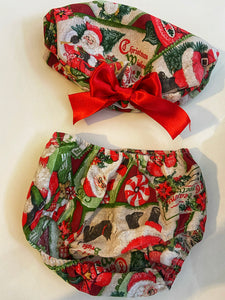 CHRISTMAS SET, (dress knickers and beret) AGE 2