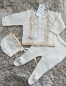 Cream Knit set
